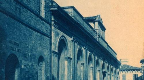 Gaetano Savini, Accademia di Belle Arti in Piante Panoramiche, volume III, fig. 106, 1905-1907 (copyright Biblioteca Classense)