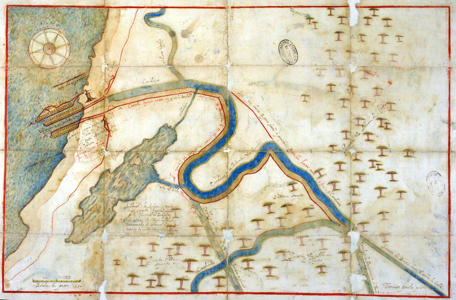 Porto Candiano autore: Tommaso Spinola  data: XVI secolo