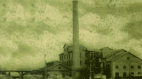 Lo Zuccherificio in una foto dei primi del 1900