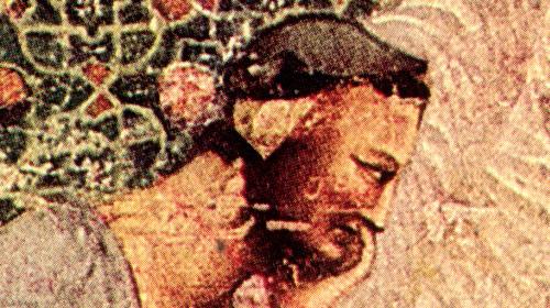 Presunto ritratto di Dante, affresco rinvenuto nel 1920 nella basilica di S. Francesco