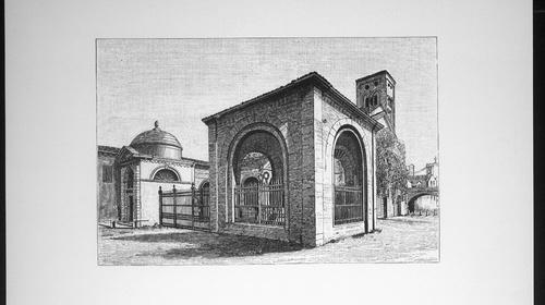 Il quadrarco di Braccioforte in una stampa del 1850