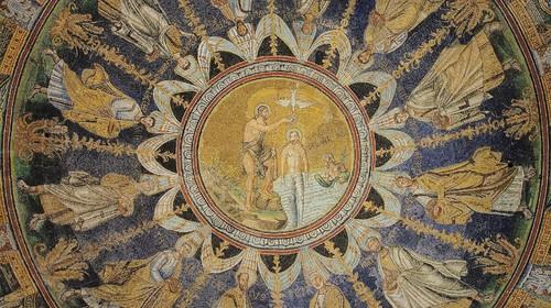 Il mosaico del Battesimo di Cristo nella cupola del Battistero Neoniano