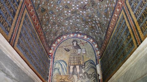 Museo Arcivescovile - Mosaico del Cristo Guerriero nella cappella di Sant'Andrea