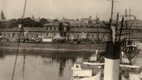 Anonimo, Banchine del porto di Ravenna, 1930(copyright Biblioteca Classense)