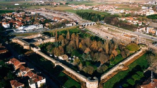 La Rocca Brancaleone in una foto aerea