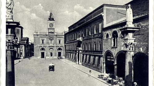 Maria Cellini, Piazza del Popolo già Piazza Vittorio Emanuele, 1920 (copyright Biblioteca Classense)