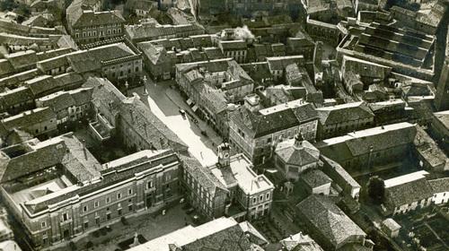 Veduta area di Piazza del Popolo, Fondo Gambi, Romagna 049,  Foto 33, Cartella 33 (copyright Biblioteca Classense)