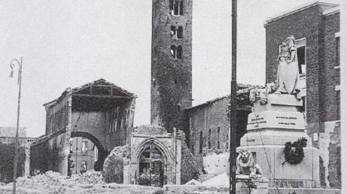 San Giovanni Evangelista dopo i bombardamenti subiti durante la Seconda Guerra Mondiale